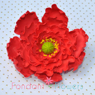 "4"" Peony - Large - Red (Sold Individually)"