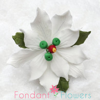 "2.5"" Poinsettia - Small - White (Sold Individually)"