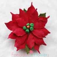 """3.5"""" Poinsettia - Medium - Red (Set of 3)"""