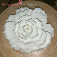 "4"" Succulent Flower - Large - White (Sold Individually)"