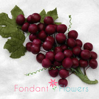 "6"" Grape Bunch - Burgundy"