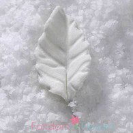 "3/4"" Rose Leaves - Mini - White w/ Wire (10 per box)"