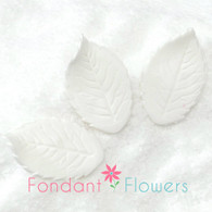 "1.75"" Rose Leaves - Medium - White (10 per box)"