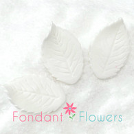 "1.25"" Rose Leaves - Small - White w/ Wire (10 per box)"