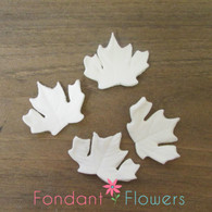 "1.5"" Autumn Leaves - Small - White (10 per box)"
