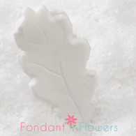 "2.25"" Oak Leaves - Medium - White w/ Wire (10 per box)"