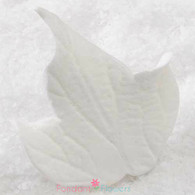 "2"" Ivy Leaves - Medium - White w/ Wire (10 per box)"