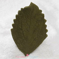 "3.5"" Hibiscus Leaves - XL - Green w/ Wire (10 per box)"