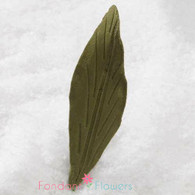 "2.5"" Lily Leaves - Small - Green w/ Wire (10 per box)"