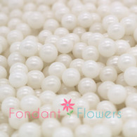 6mm Sugar Pearls - White