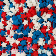 Red, White & Blue Star Quins (3 ounces)