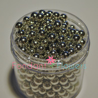 6mm Dragee's - Silver