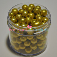 8mm Dragee's - Gold