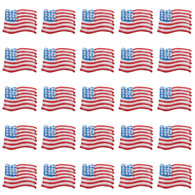 Royal Icing American Flags (15 per box)