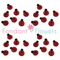 Royal Icing Ladybugs (20 per box)