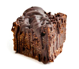 Belgium Dark Chocolate Brownie, Callebaut chocolate drizzle