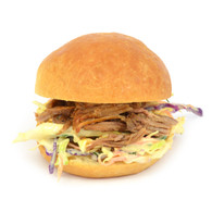 Pulled Beef Brioche with Carrot & Cabbage Coleslaw (20)