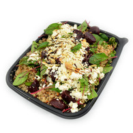 Organic quinoa, red chard, roasted beetroot, shaved almonds & Yarra Valley Persian fetta