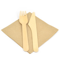 Biodegradable Cutlery with Napkins (10)