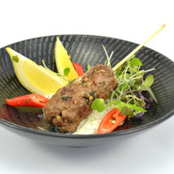 Greek lamb kibbeh, tzatziki yoghurt & lemon (20)