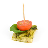 Cherry tomato on Turkish bread, basil pesto (20)