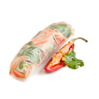 Vietnamese Lime Chilli Chicken Rice Paper Rolls, sweet & sour sauce (20)