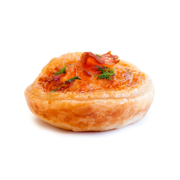 Tasmanian smoked salmon dill quiche instant catering for Smoked salmon roulade canape