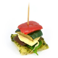 Grilled Vegetable Stack, Turkish Bread with Basil Pesto & Bocconcini (20)