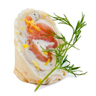 Tasmanian Smoked Salmon Roulade of French Crepes, chervil cream fraîche