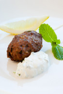 Greek Lamb Kopftas, minted Tzatziki Yoghurt, mint & lemon (20)