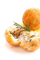 Fried Gnocchi, filled with mozzarella and oregano