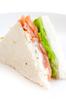Tasmanian Smoked Salmon & Cream Cheese Sandwiches (20 points)