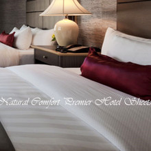 Natural Comfort Premier Hotel Sheet Set in Tuxedo Stripe Pattern