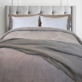 Linen Cotton  Reversible Duvet Cover  (Taupe, King)
