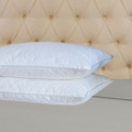 Classic White Goose Down Feather Pillow, Set of Two