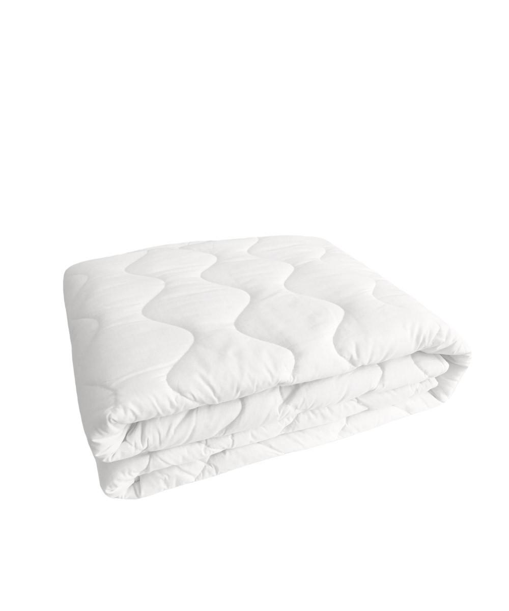 Super Soft Anchor Band White Mattress Pad Natural