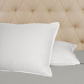 Hotel Selection Down Alternative Microfiber Embossed Pillow Set-Firm filled