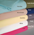 Easy Care 4 Piece Microfiber Solid Color Sheet Set with 10 Color Options