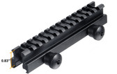 "TACTICAL See-Thru .223 Flat Top 1"" Riser BLACK Mount for Picatinny Rail"