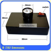 Hand Free Desktop LED light Source for gem tools such as Polariscope / Darkfield Loupe etc
