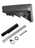 Gen 3 Kit! Made in USA Black Sopmod Mil spec Stock Buttstock + Buffer tube kit
