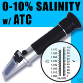 Salinity Refractometer for Aquarium, 0% - 10% Hydrometer, RHS-10ATC