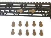Pack 10! FDE/Flat Dark Earth Tan Rubber Insert Protector Plug for free float KeyMod Rail Covers