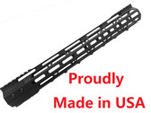 "For 308! LR308! -MADE IN USA!- ADE PRO 17"" INCH RAIL SUPER SLIM HANDGUARD FREE FLOAT"