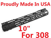 "FOR 308! LR308! -MADE IN USA!- ADE PRO 10"" INCH RAIL SUPER SLIM HANDGUARD FREE FLOAT"