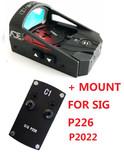 Ade RD3-012 Waterproof RED Dot Reflex Sight Pistol for Sig-Sauer-P226 P2020