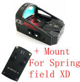 Ade RD3-012 Waterproof RED Dot Compact Reflex Sight Pistol 4 Springfield XD XDs