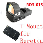 Ade Advanced Optics RD3-015 Zantitium RED Dot Reflex Sight Pistol for Berreta