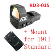 Ade RD3-015 Zantitium RED Dot Reflex Sight for Colt 1911 Style Standard Pistol