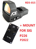 Ade RD3-015 Zantitium RED Dot Waterproof Reflex Sight for Sig-Sauer-P226 P2022